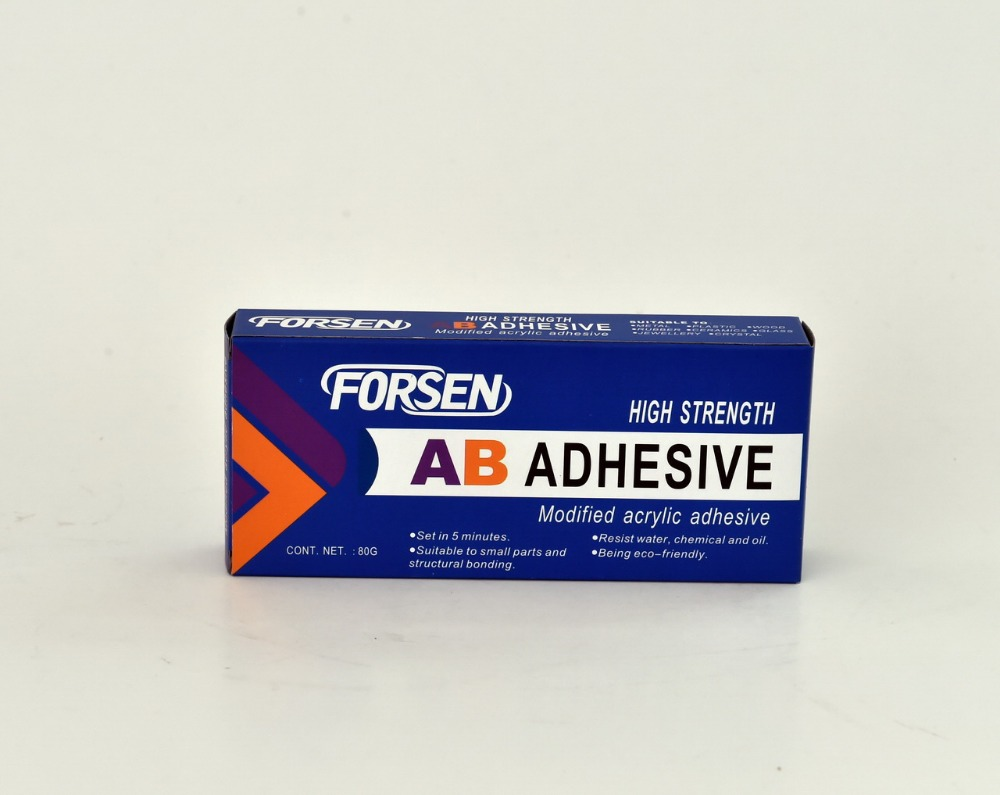 4 min fast curing modified acrylic ab adhesive glue/epoxy steel gum 60g/box with OEM service