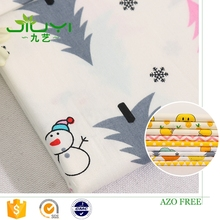High quality fashion print snowman 100% cotton baby bedding fabric poplin fabric price per meter