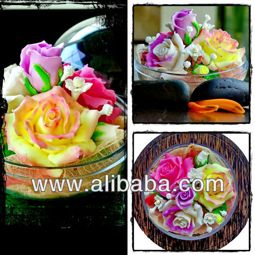 CARVED SOAP FLOWERS ROSE GARDEN