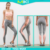 Fashion sportswear two colors match randomly jogging leggings