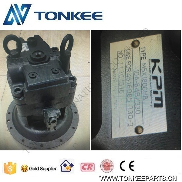 Construction Machinery Parts KAWASAKI Swing motor & Excavator hydraulic motor M5X180CHB-10A-64B/330