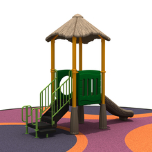 2018 Commerical kids plastic slide,Straw series outdoor playground equipment.