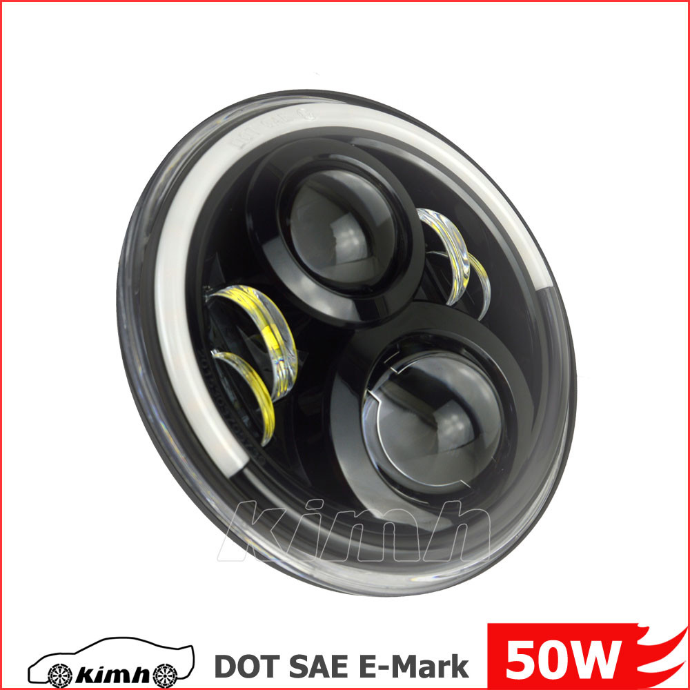 SAE DOT 7 inch round auto car led headlights angel eyes lighting
