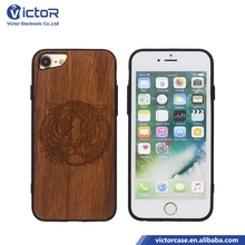 Fashion designer pattern wood phone case for iPhone 7 back cover