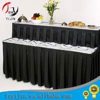 popular fashion table skirting designs for wedding