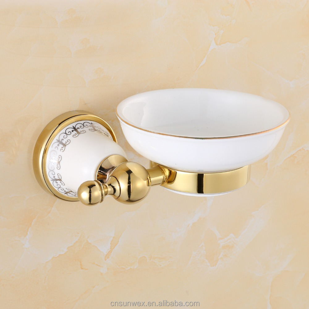 Wall Mounted Ceramic Bathroom Soap Dish Bathroom Accessories Soap Holder G7559