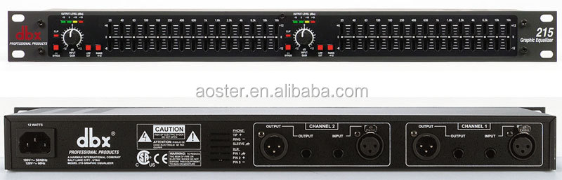 DBX 215 --Dual Channel 15-Band Equalizer
