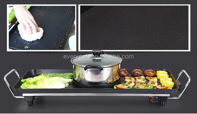 Electric grill pan Frying pan with middle hotpot