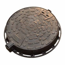 China EN124 cast iron bituminous paint round water meter manhole cover price