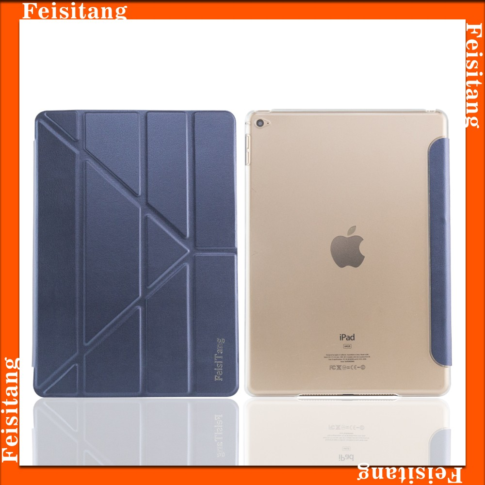 Ultra-thin fold clamshell tablet cases for ipad air Smart cover , for ipad 5 tablet cover