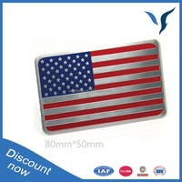 Car Truck Auto USA Country Flag Emblem Sticker Metal Badge Decal Decor