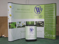 Newest Magnetic Pop Up Display Trade Show Booth Pop Up Banner Display Spring Pop Up Banner