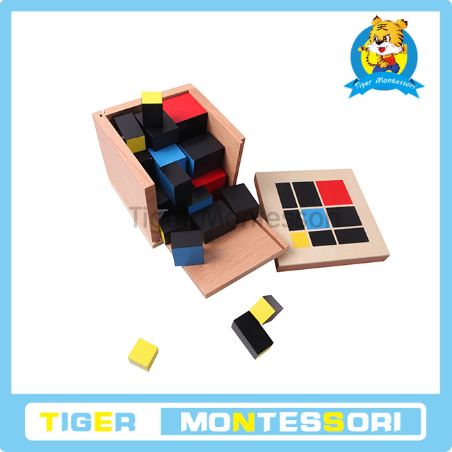 montessori math material ,educational toys for kids-Trinomial Cube