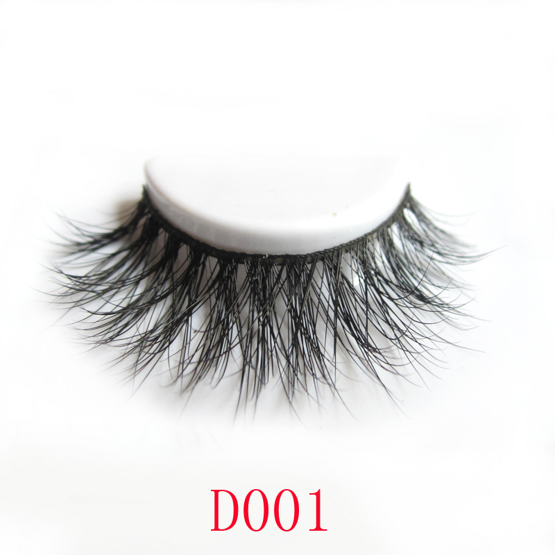 Wholesale Private Label 3D 100% Mink lashes own brand eyelashes <strong>D001</strong>