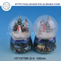 Best price XMAS resin inflatable human size snow globe fashion designed
