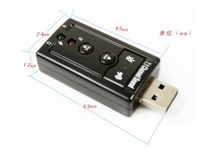 USB Sound Card 7.1 Channel 3D Audio Sound Card Mic Adapter 3.5mm Jack Stereo Headset For Win XP / 7 8 Android Linux for Mac OS
