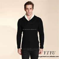 Fahion men sweater long sleeves turtleneck thick wool korean cable knit pullover