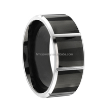 Boy rings fashion black plated cobalt chrome rings jewelry