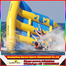 Funny and excitting inflatable flying fish towable for summer water games