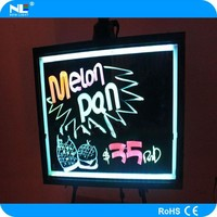 Alibaba wholesale led writing board .open advertising sign 16color change ,remote control for bar/shop/restaurant