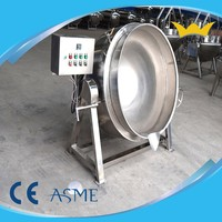 Food Steam Jacketed Kettle and Cooker with Agitator
