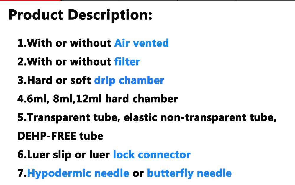 Hot sale medical disposable infusion set