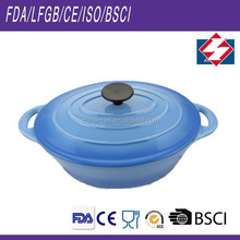 Professional oval cast iron porcelain cookware