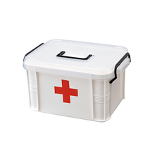 family plastic first aid box in common use