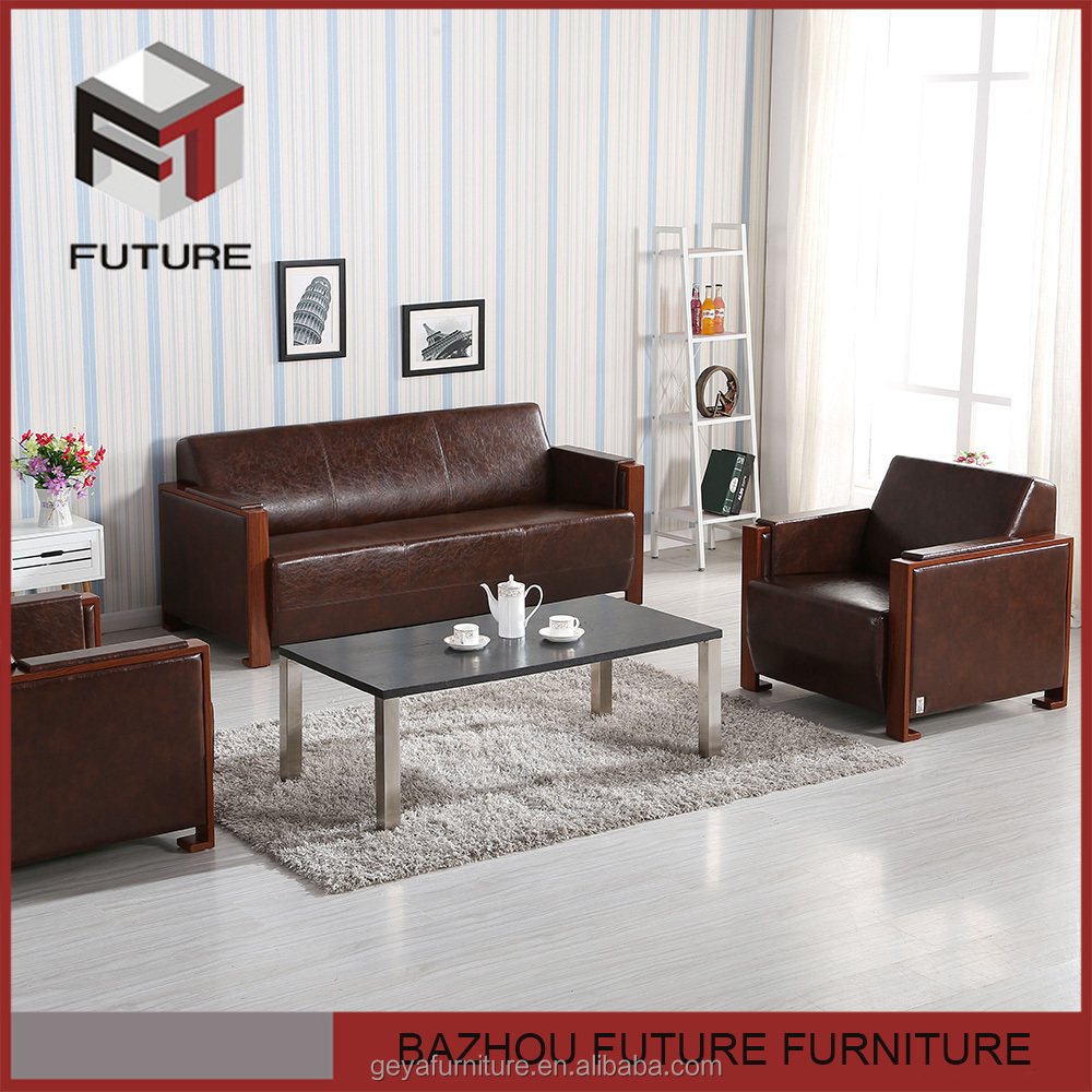 cheap living room furniture leather one seat sofa for hotel