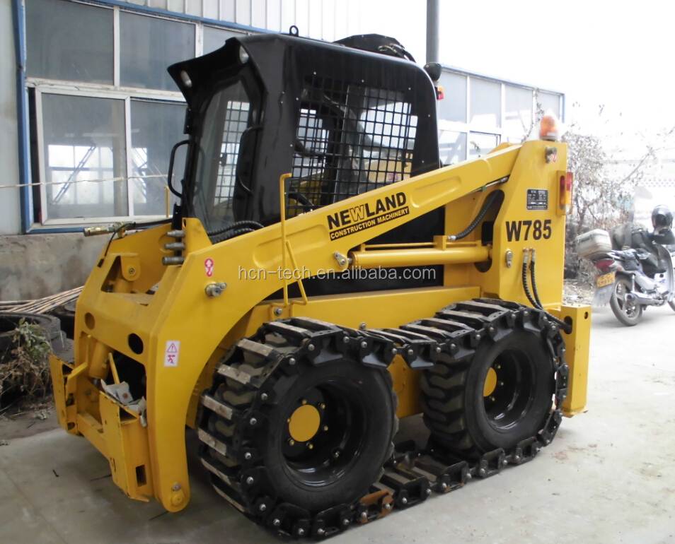 tracked mini skid steer loader snow removal equipments vehicles w7100t