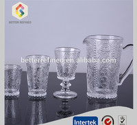 New Design Water Glass Cup Pitcher With Handle