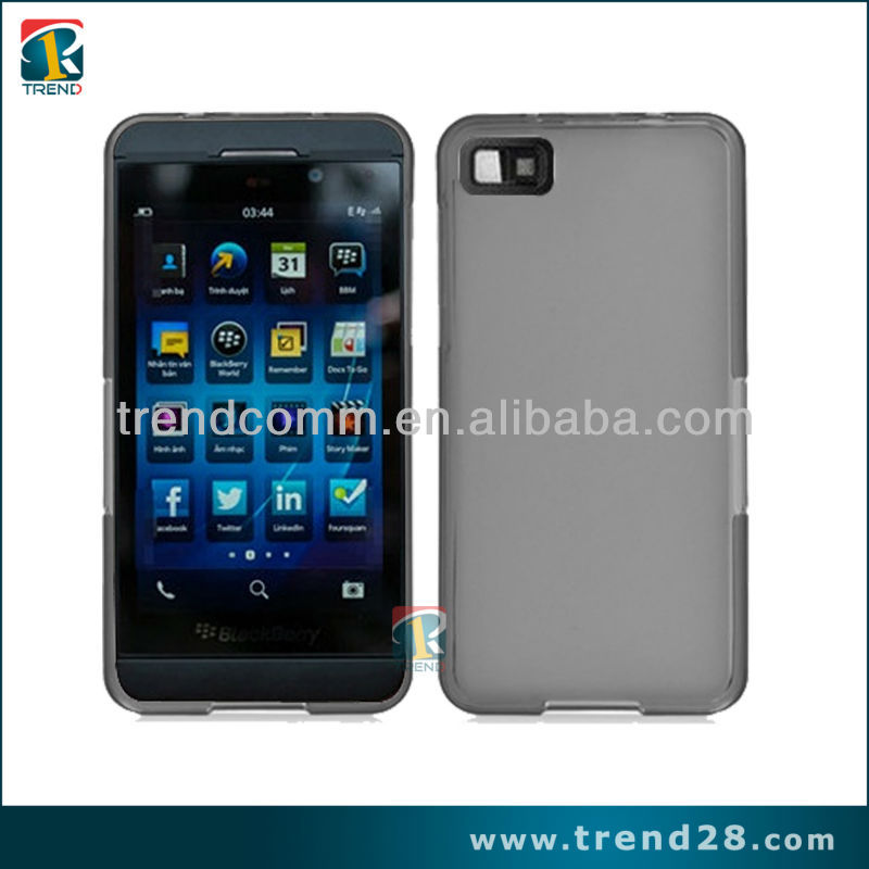 Hot& newest!!!tpu case for blackberry Z10 with back cover