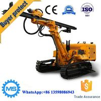 High efficiency hydraulic rock mining drilling rig
