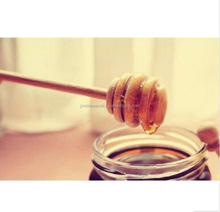 Natural wood mixing spoons wooden honey spoon