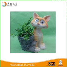 Plant pot garden decorative animal figurine with solar light