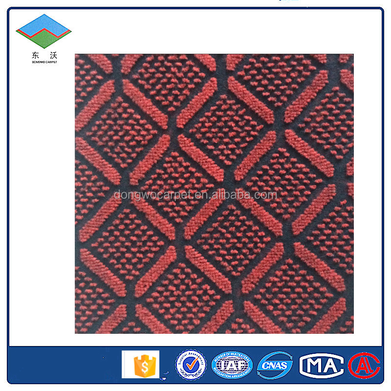 Nonwoven double colour jacquard carpet,broadloom carpet use for outdoor ,commercial