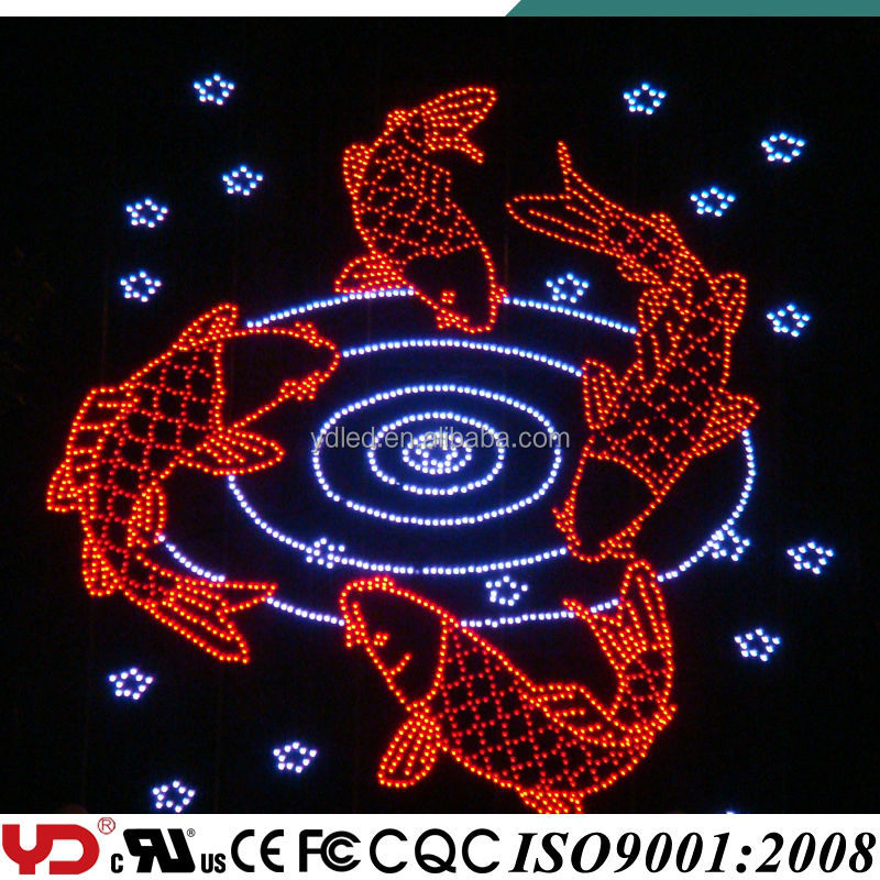 YD IP68 waterproof and fire retardant color led light hot sell customized flashing led