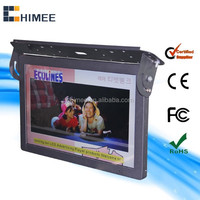 19inch Wireless 3G Wifi Network lcd bus video dvd advertising player 12v-24v