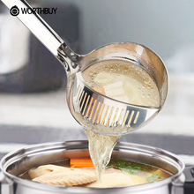 Creative Stainless Steel Kitchen Strainer Colander Multifunctional Vegetable Strainer Filter Oil Ladles Soup Scoop Cooking Tools