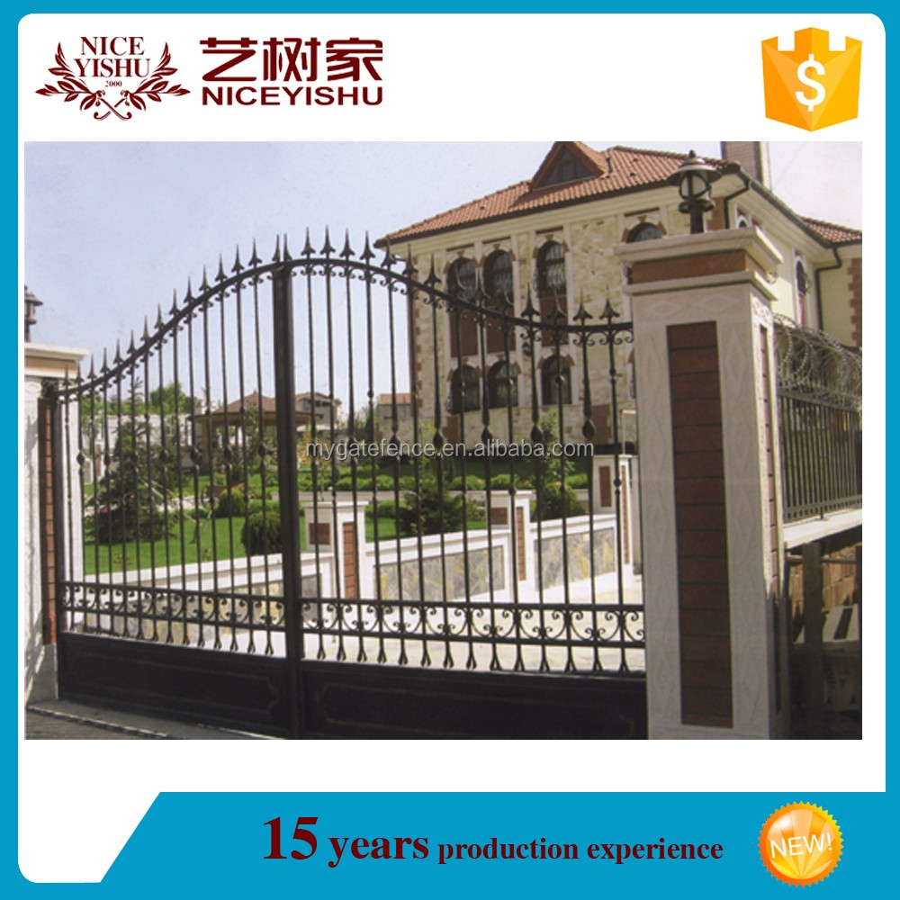 Italian style wrought iron gates for sale factory modern for Modern house gate designs philippines