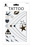 Temporary tattoo arm sleeves Silver Gold Metallic temporary tattoo arm sleeves