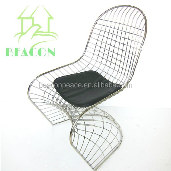 Commercial hot Sale Metal Frame S Wire Chair