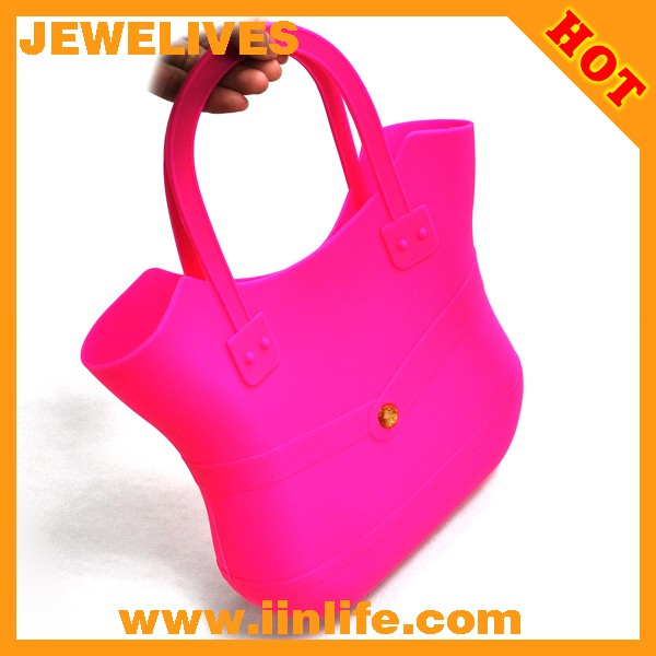 Fashion design silicone shopping bag from OEM factory