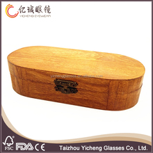2016 high quality TOP SALE real wooden material wooden sunglasses case