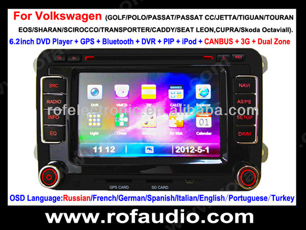 in dash dvd gps for Renault Duster with digital tv,TMC,V-6 disc memory for TIGUAN