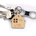 lovely wood family keychain dad keychain