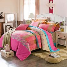 private design applique work bed sheet cheap
