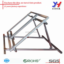 Adjustable Aluminum huge frame angle bracket with hinges, Custom precision punched part