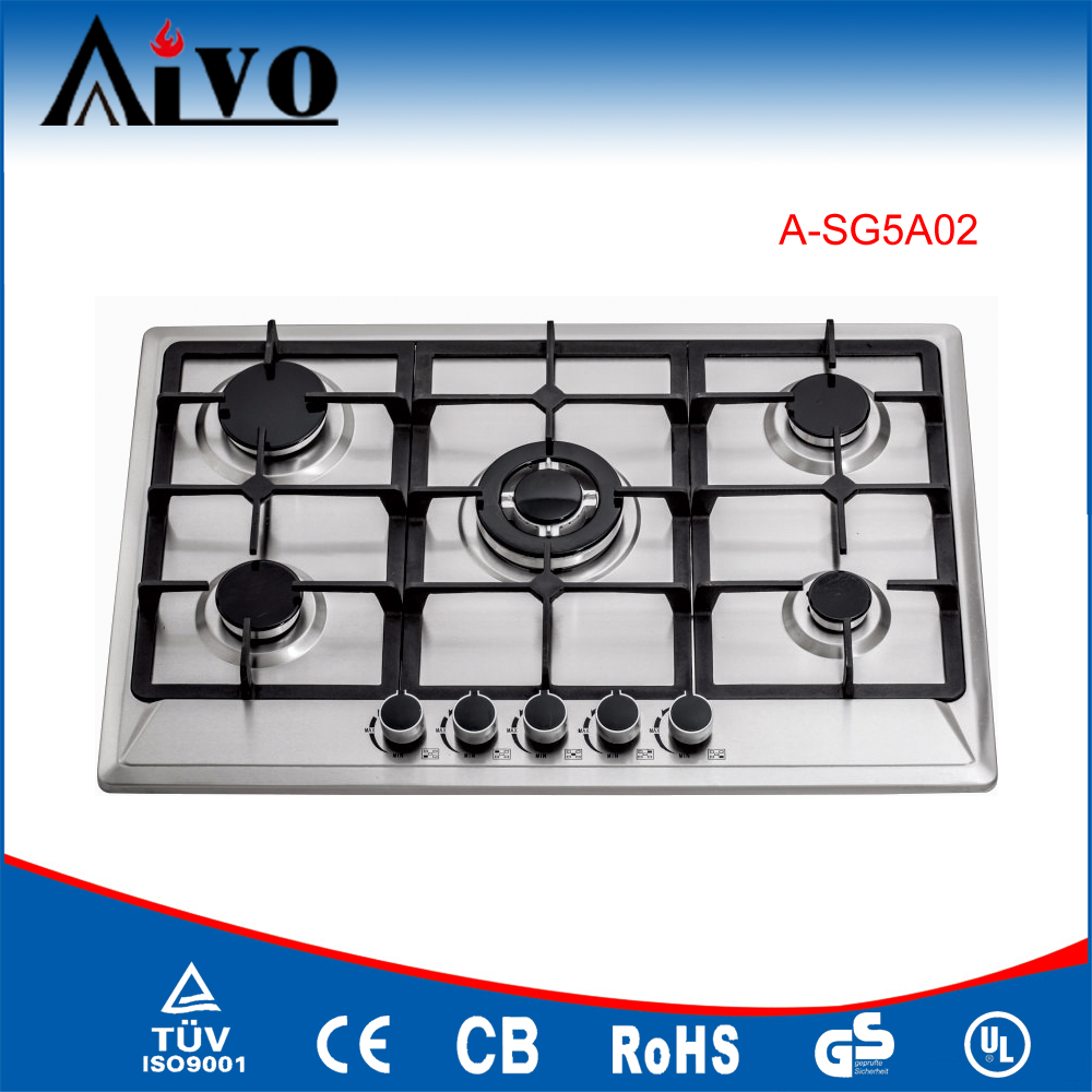 with safety device glass top 5 burner gas stove gas cooktop gas burner gas cooker