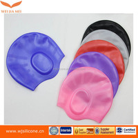 Factory direct sale checp silicone swimming caps with printing logo